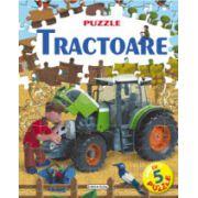 Tractoare. Carte cu puzzle