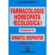 Farmacologie homeopata. Aparatul respirator